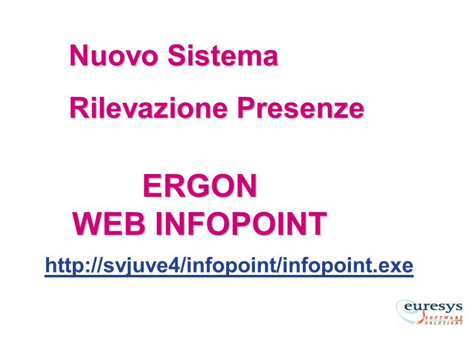 ERGON WEB INFOPOINT Nuovo Sistema Rilevazione Presenze