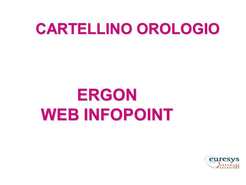 CARTELLINO OROLOGIO ERGON WEB INFOPOINT