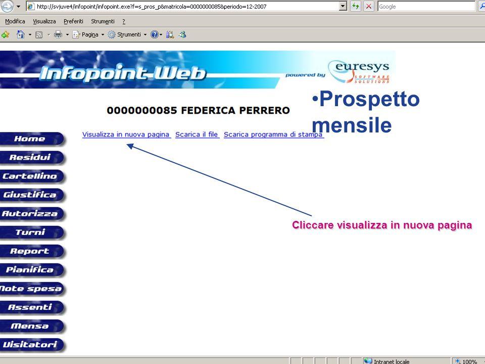Prospetto mensile Cliccare visualizza in nuova pagina