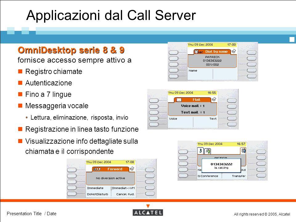 Applicazioni dal Call Server