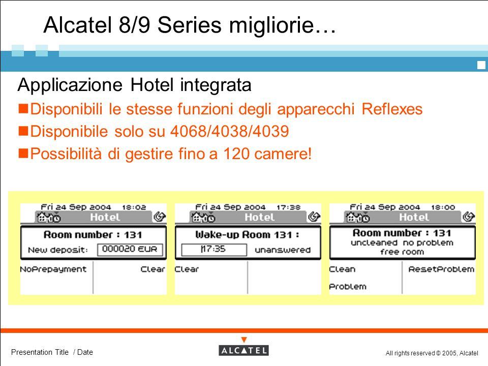 Alcatel 8/9 Series migliorie…