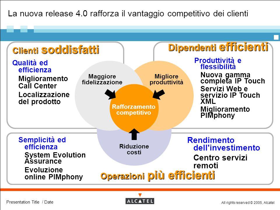 La nuova release 4.0 rafforza il vantaggio competitivo dei clienti