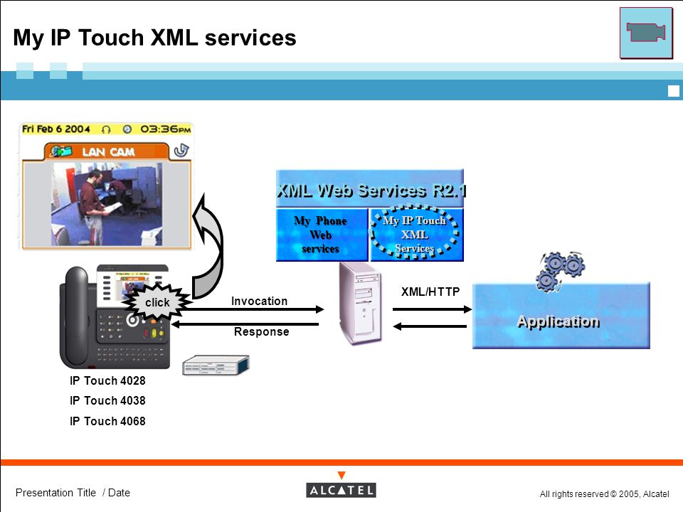 My IP Touch XML Services