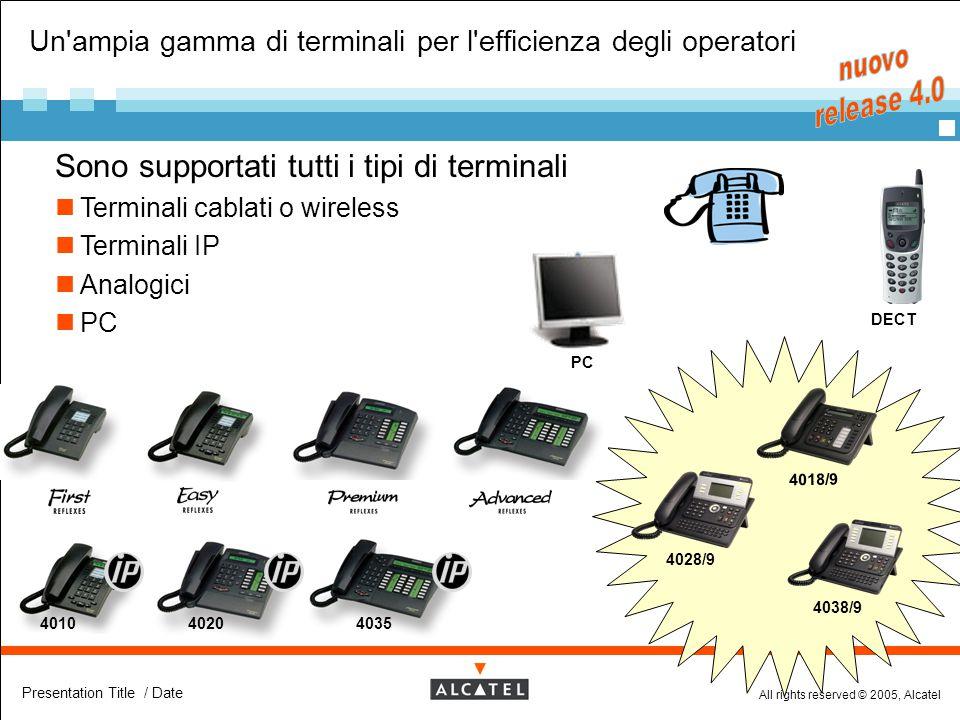 Un ampia gamma di terminali per l efficienza degli operatori