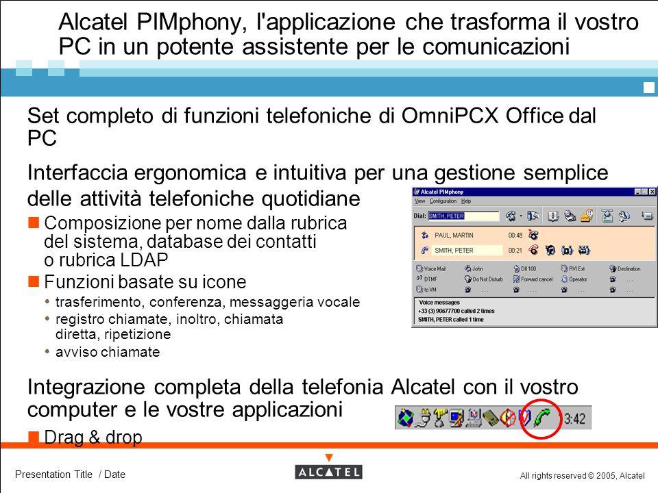 Alcatel PIMphony, l applicazione che trasforma il vostro PC in un potente assistente per le comunicazioni