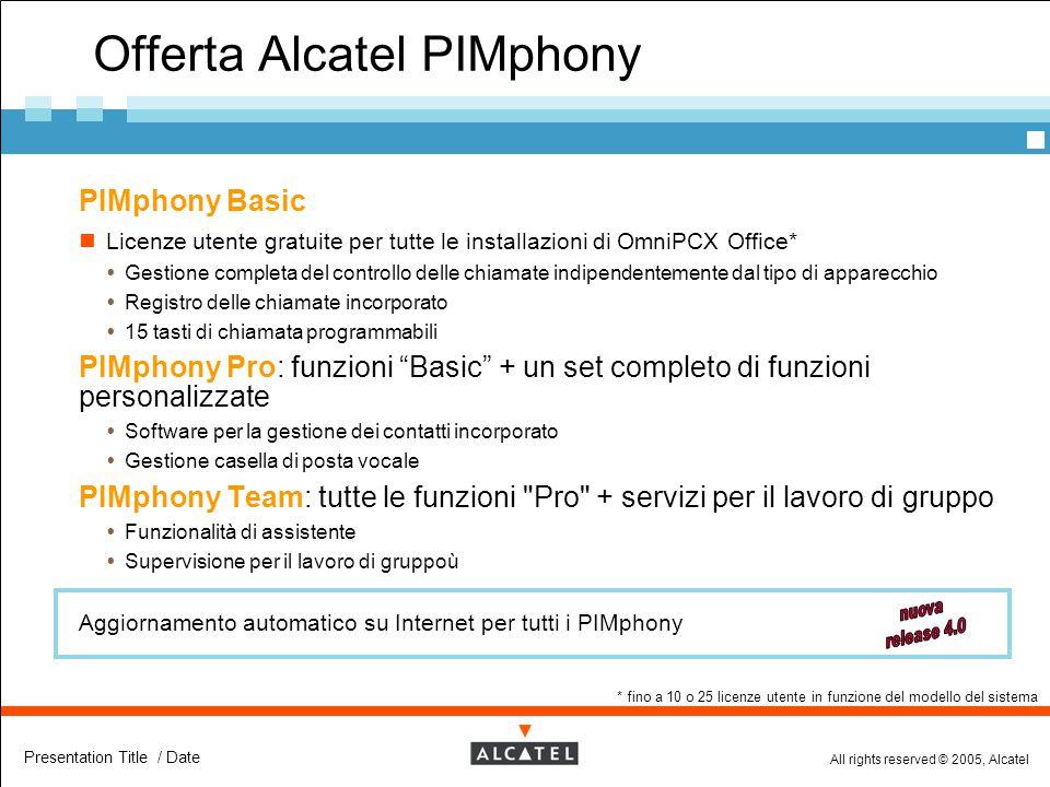 Offerta Alcatel PIMphony