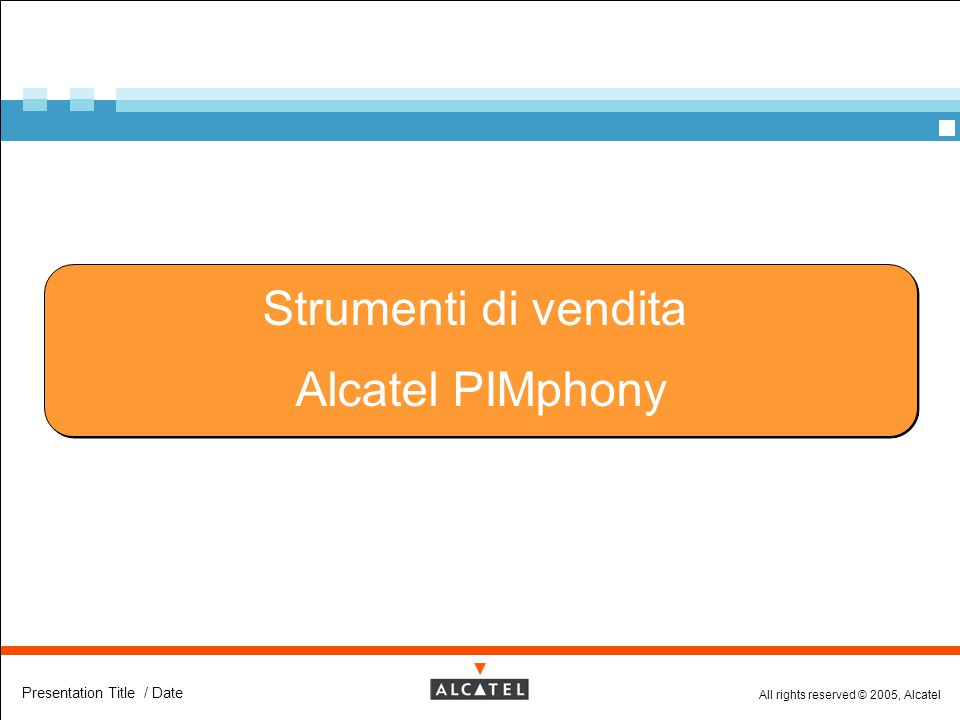 Strumenti di vendita Alcatel PIMphony