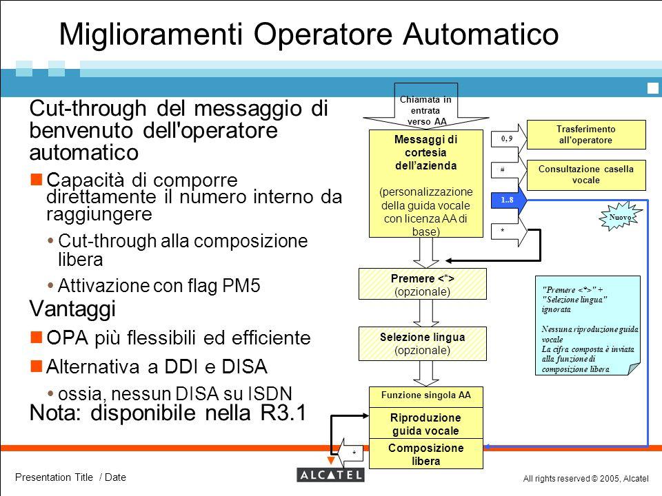Miglioramenti Operatore Automatico