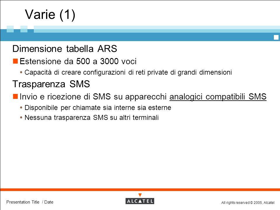 Varie (1) Dimensione tabella ARS Trasparenza SMS