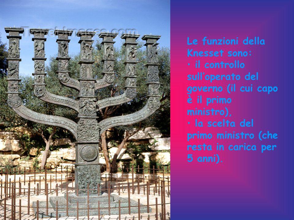 Le funzioni della Knesset sono: