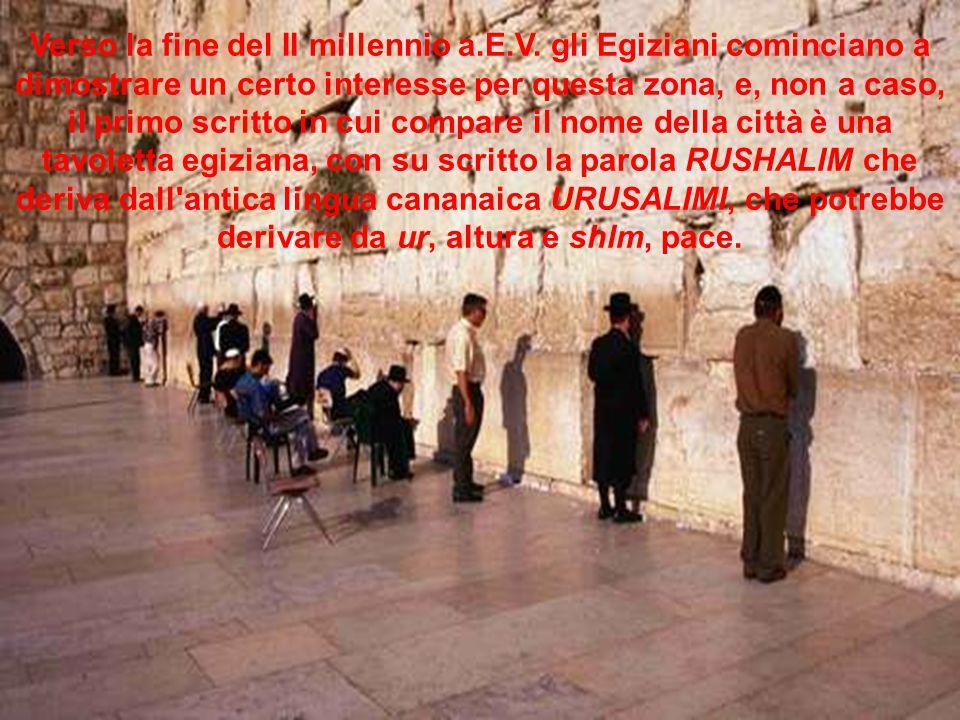 Verso la fine del II millennio a. E. V