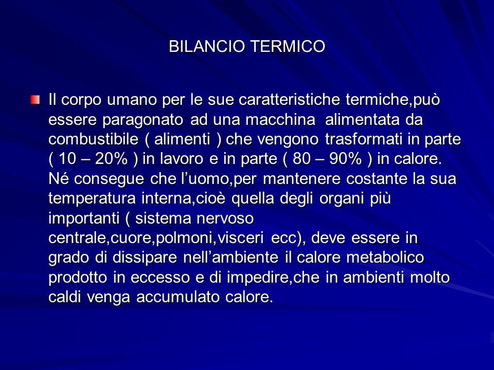 BILANCIO TERMICO