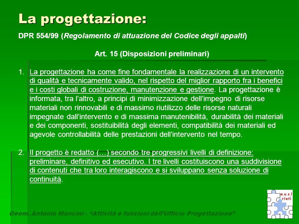 Art. 15 (Disposizioni preliminari)