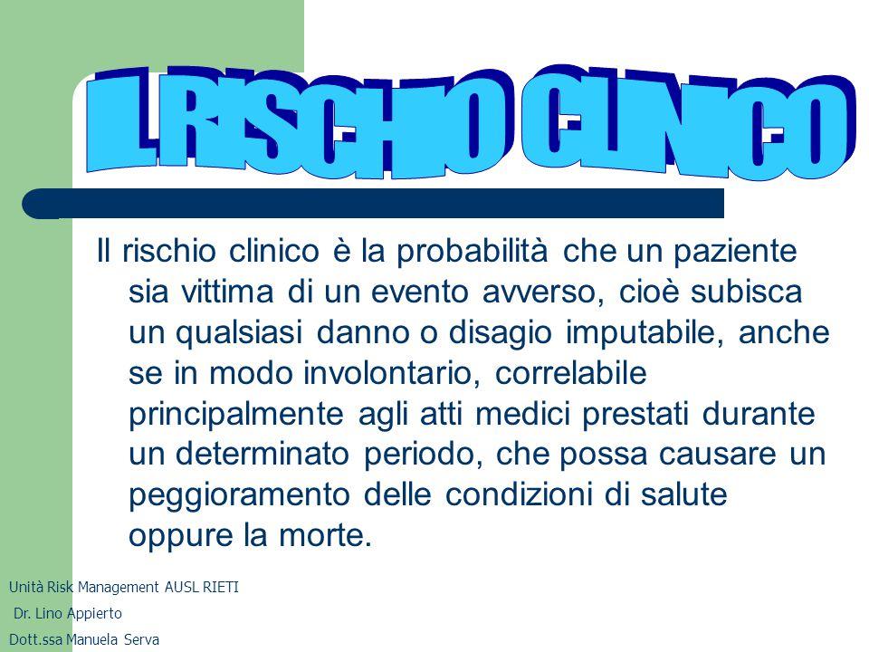 IL RISCHIO CLINICO