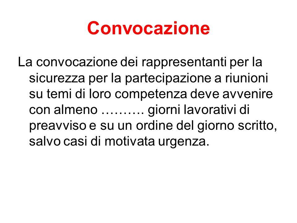 Convocazione