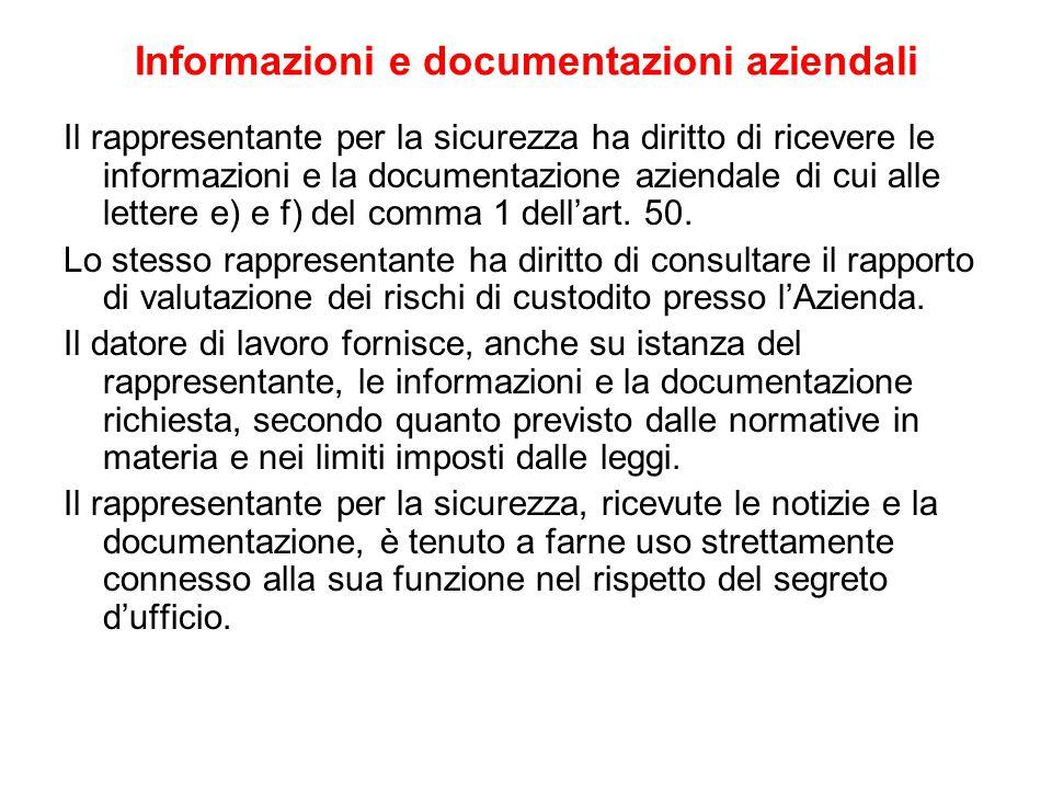 Informazioni e documentazioni aziendali