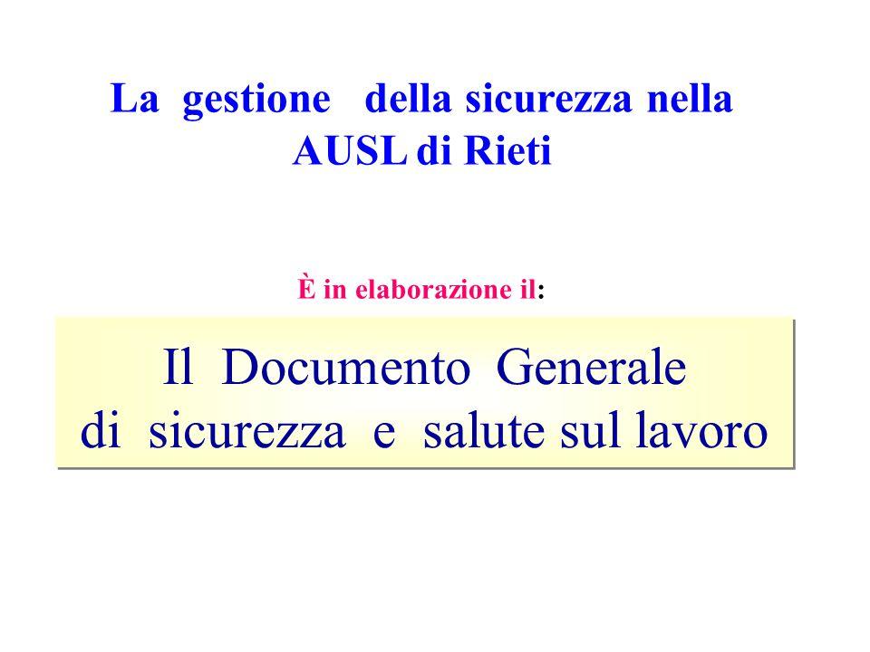 La gestione della sicurezza nella AUSL di Rieti