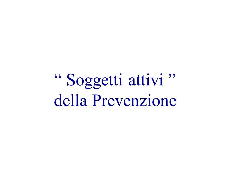 Soggetti attivi della Prevenzione