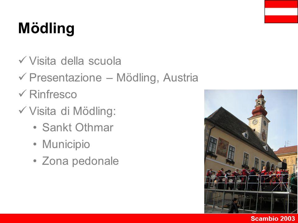 Mödling Visita della scuola Presentazione – Mödling, Austria Rinfresco
