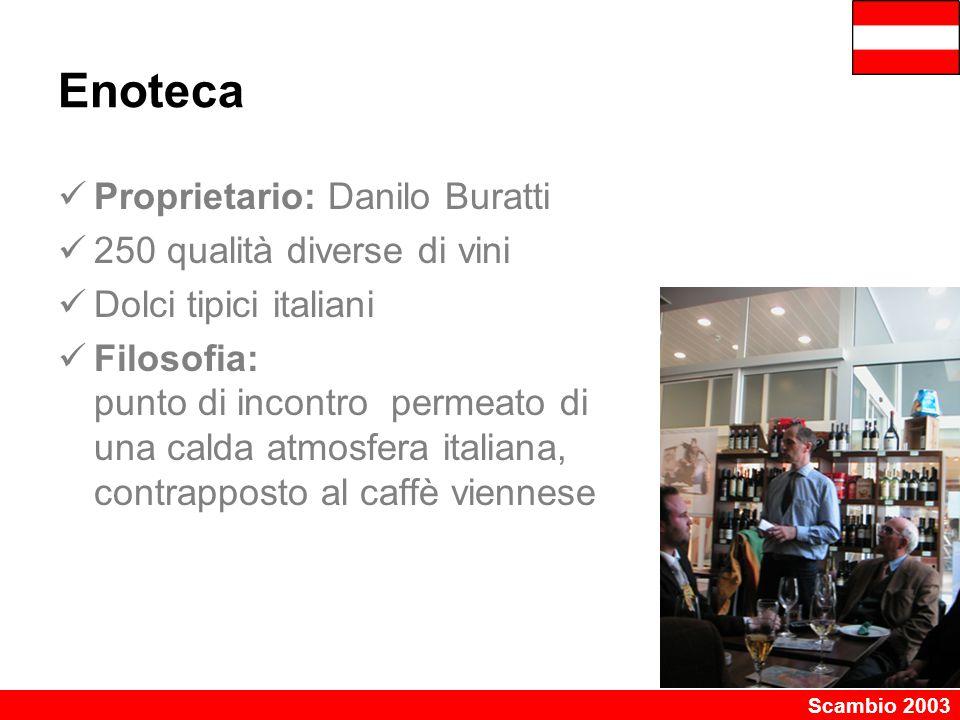 Enoteca Proprietario: Danilo Buratti 250 qualità diverse di vini
