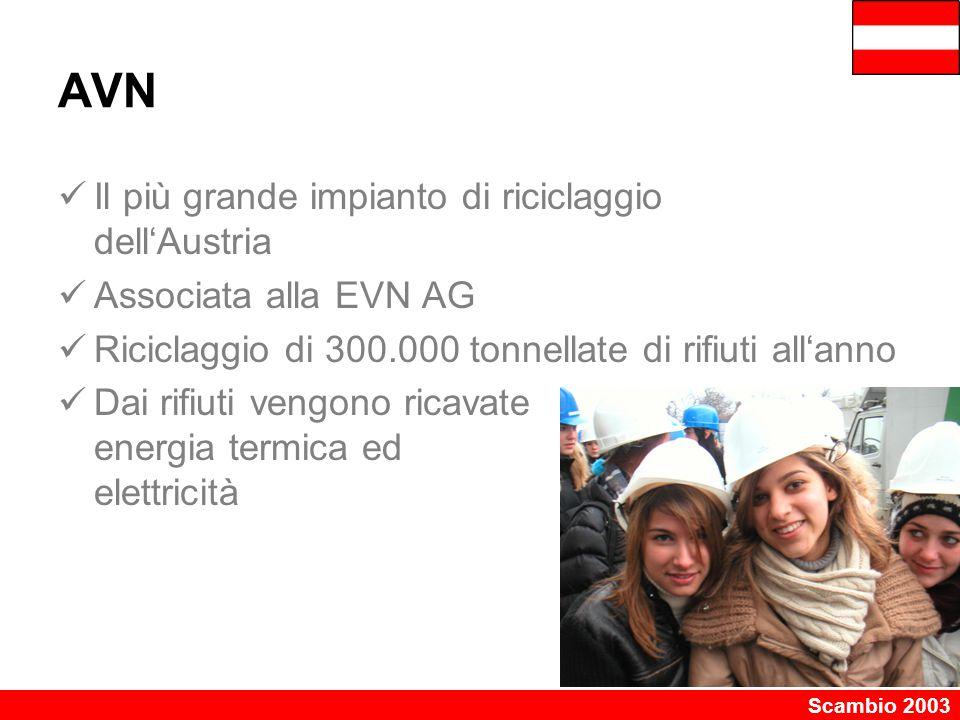 AVN Il più grande impianto di riciclaggio dell'Austria