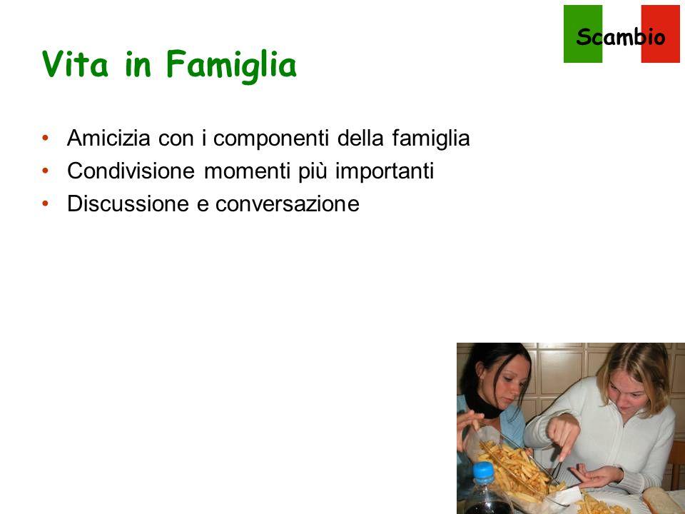 Vita in Famiglia Amicizia con i componenti della famiglia
