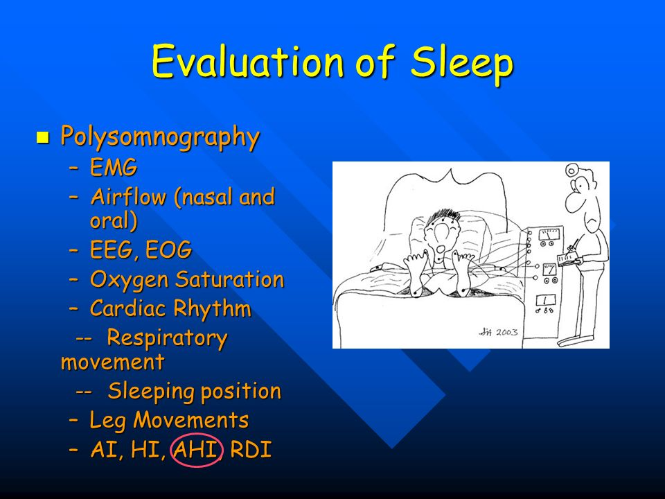 Evaluation of Sleep Polysomnography EMG Airflow (nasal and oral)