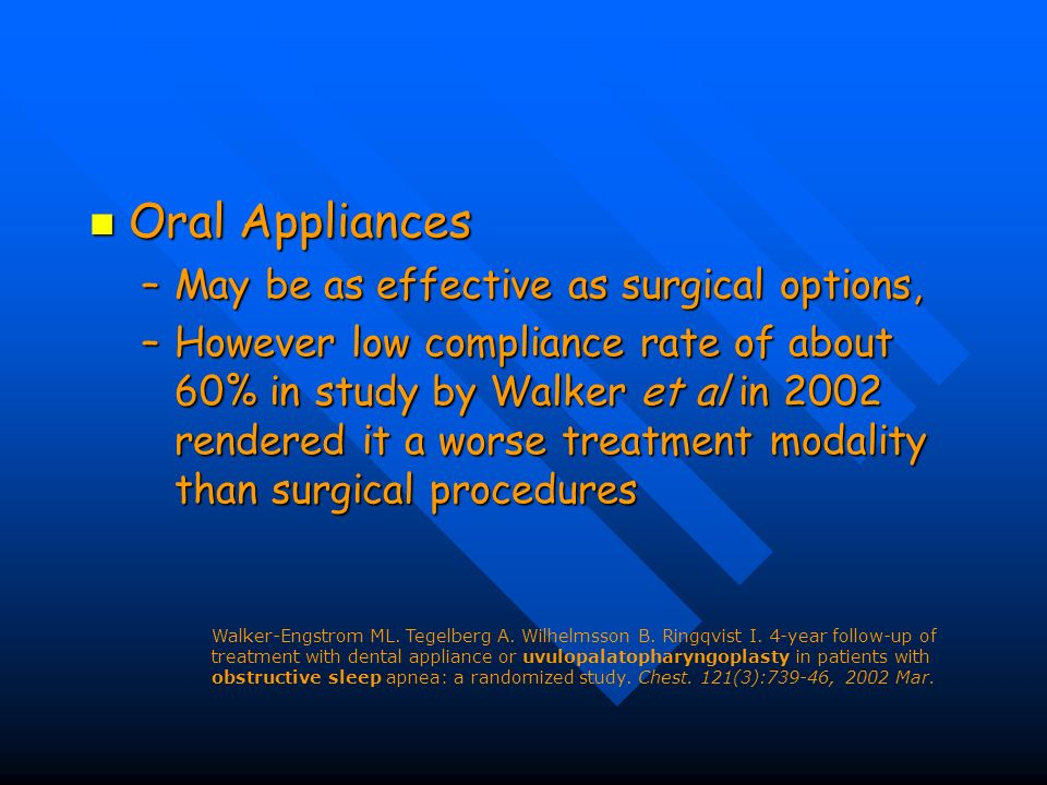 Oral Appliances May be as effective as surgical options,