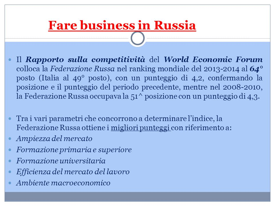 Fare business in Russia