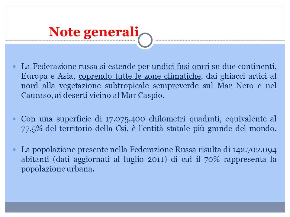 Note generali