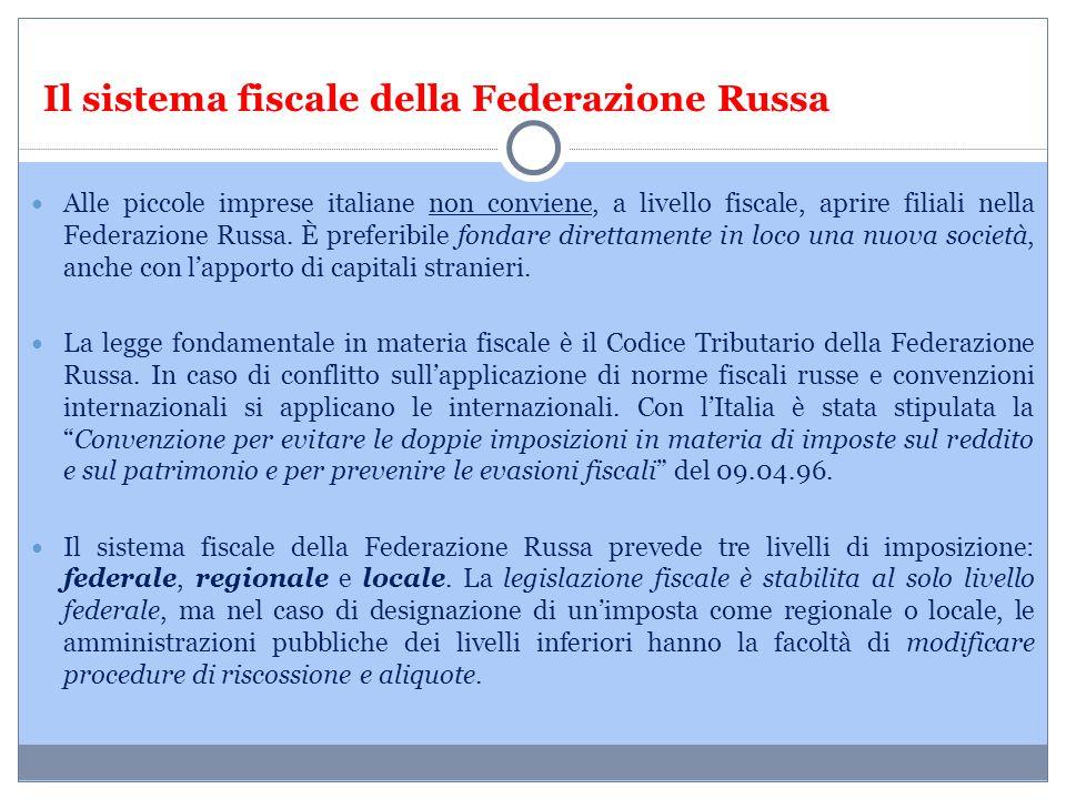 Il sistema fiscale della Federazione Russa