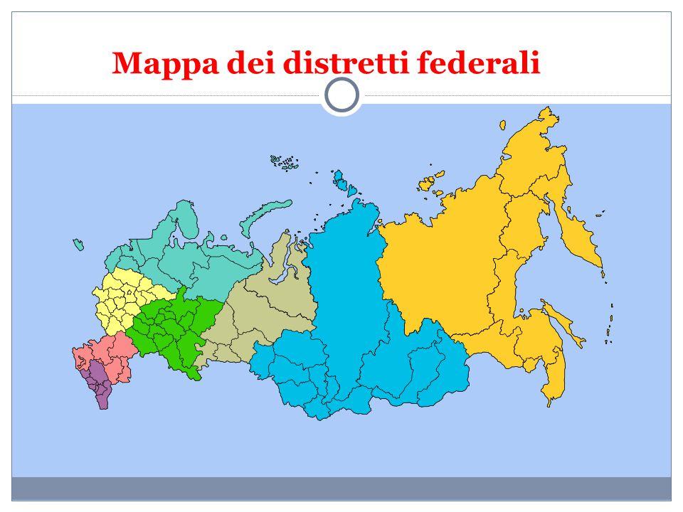 Mappa dei distretti federali