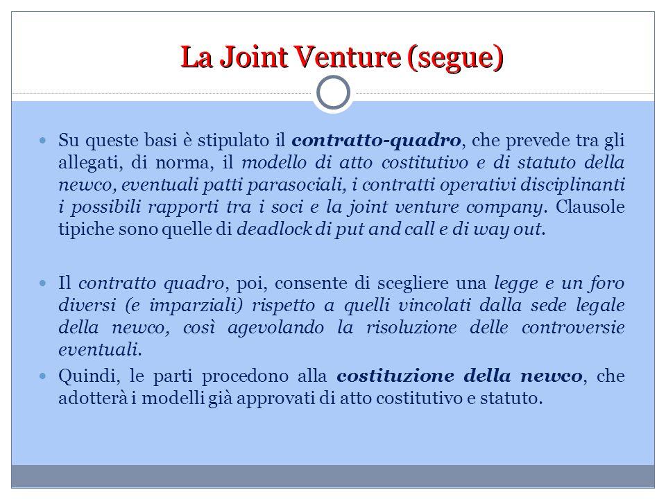 La Joint Venture (segue)