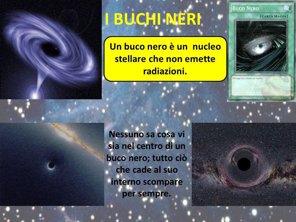 Un buco nero è un nucleo stellare che non emette radiazioni.