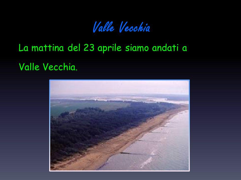 La mattina del 23 aprile siamo andati a Valle Vecchia.