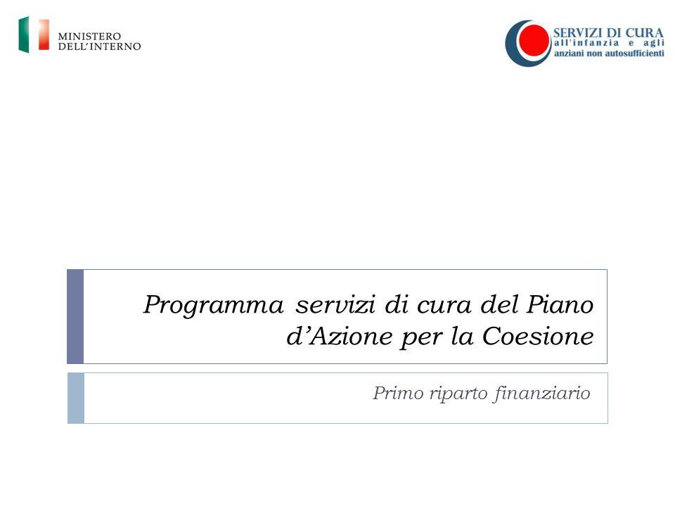 Programma servizi di cura del Piano d'Azione per la Coesione