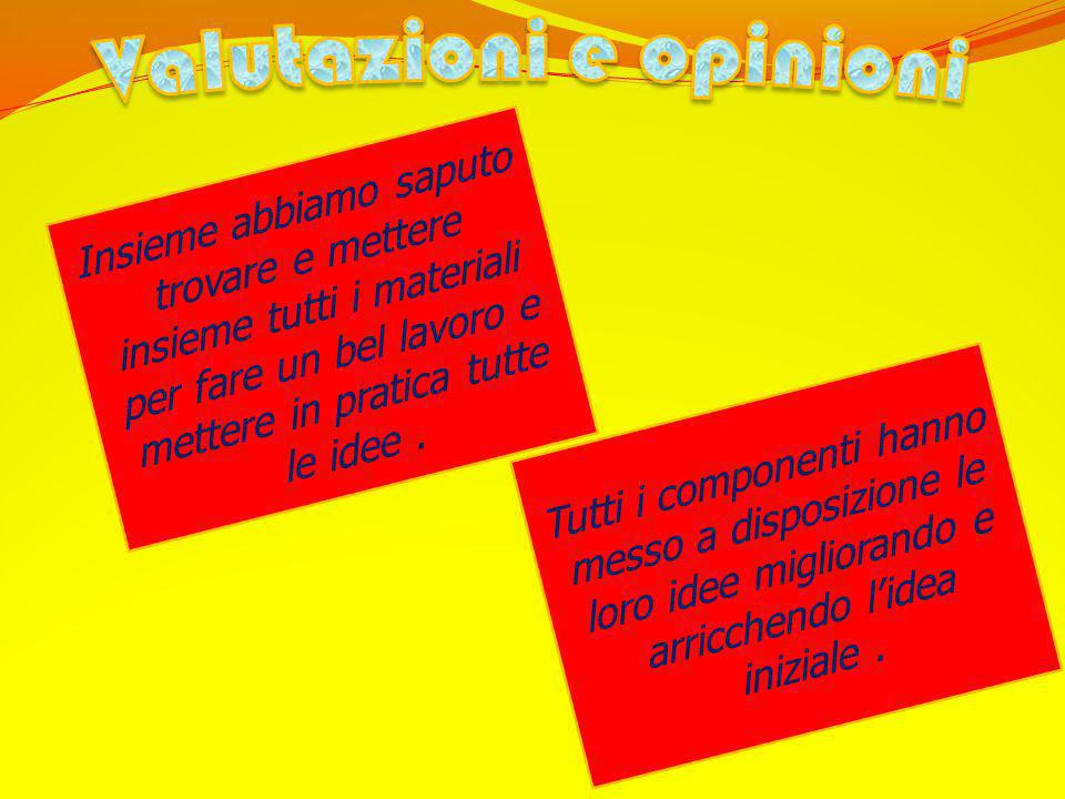 Valutazioni e opinioni