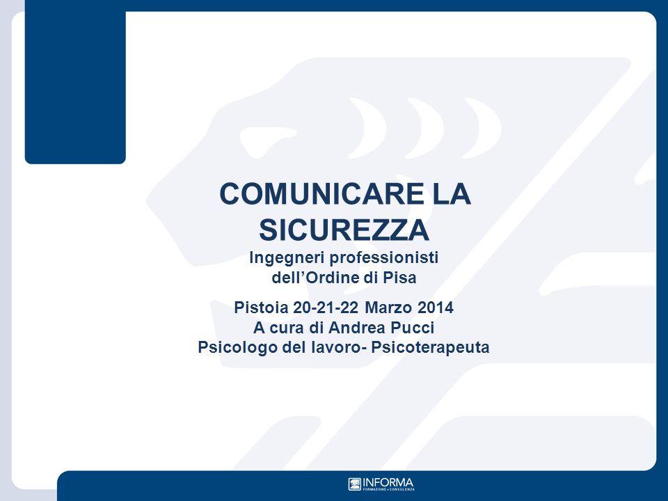 COMUNICARE LA SICUREZZA