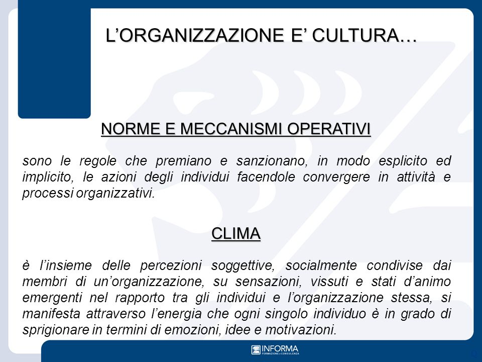 NORME E MECCANISMI OPERATIVI