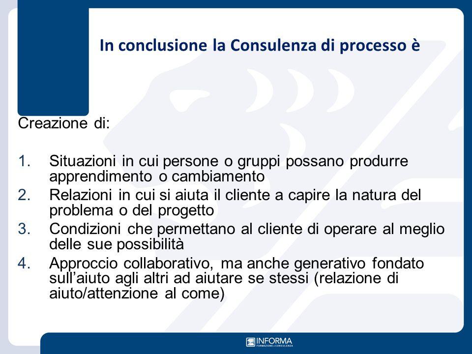 In conclusione la Consulenza di processo è