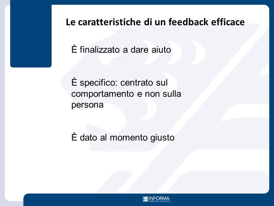 Le caratteristiche di un feedback efficace