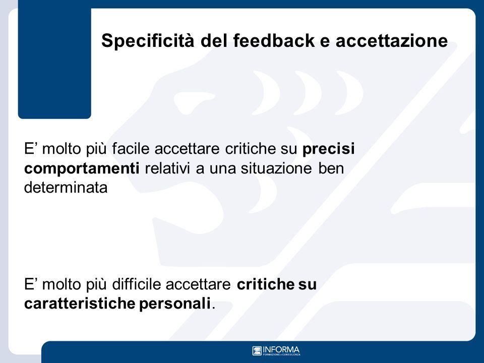 Specificità del feedback e accettazione