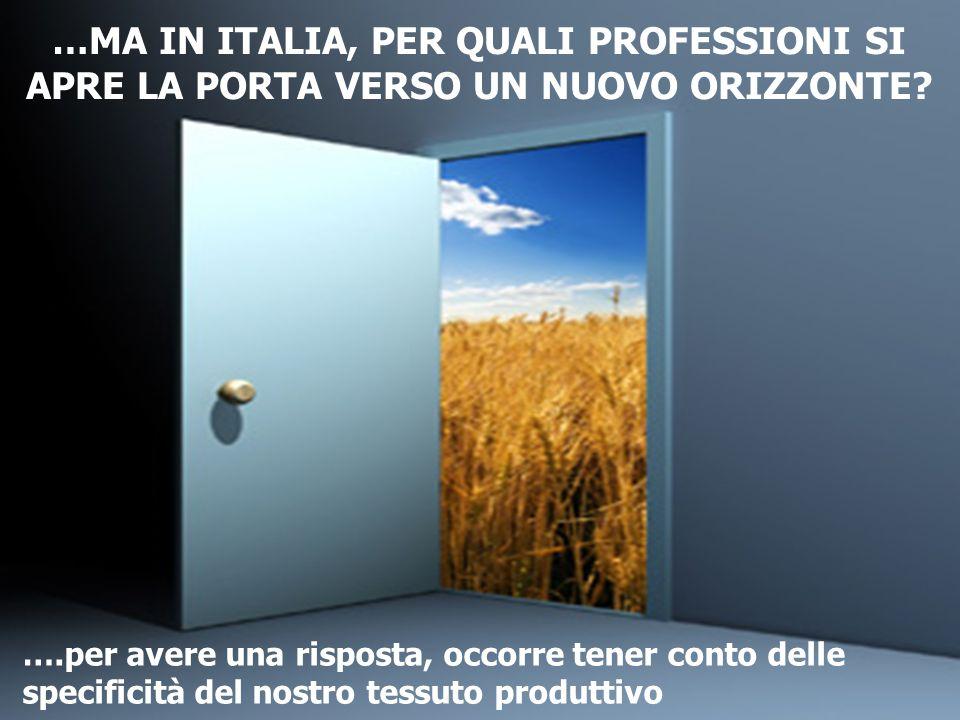 …MA IN ITALIA, PER QUALI PROFESSIONI SI APRE LA PORTA VERSO UN NUOVO ORIZZONTE