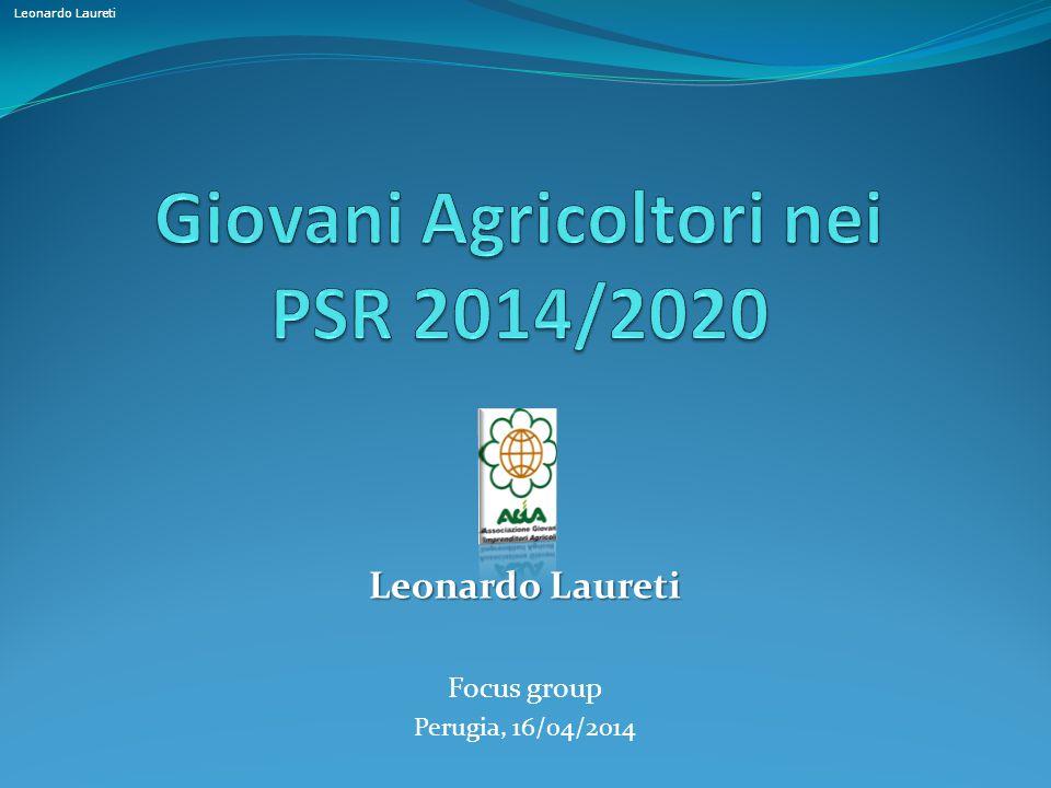 Giovani Agricoltori nei PSR 2014/2020