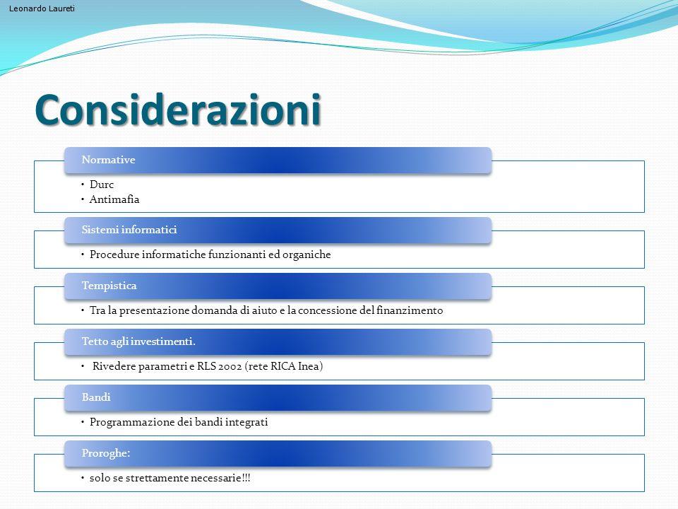 Considerazioni Durc Antimafia Normative