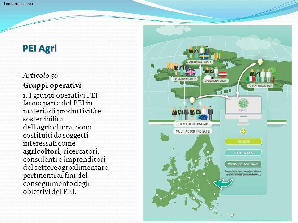 PEI Agri Articolo 56 Gruppi operativi