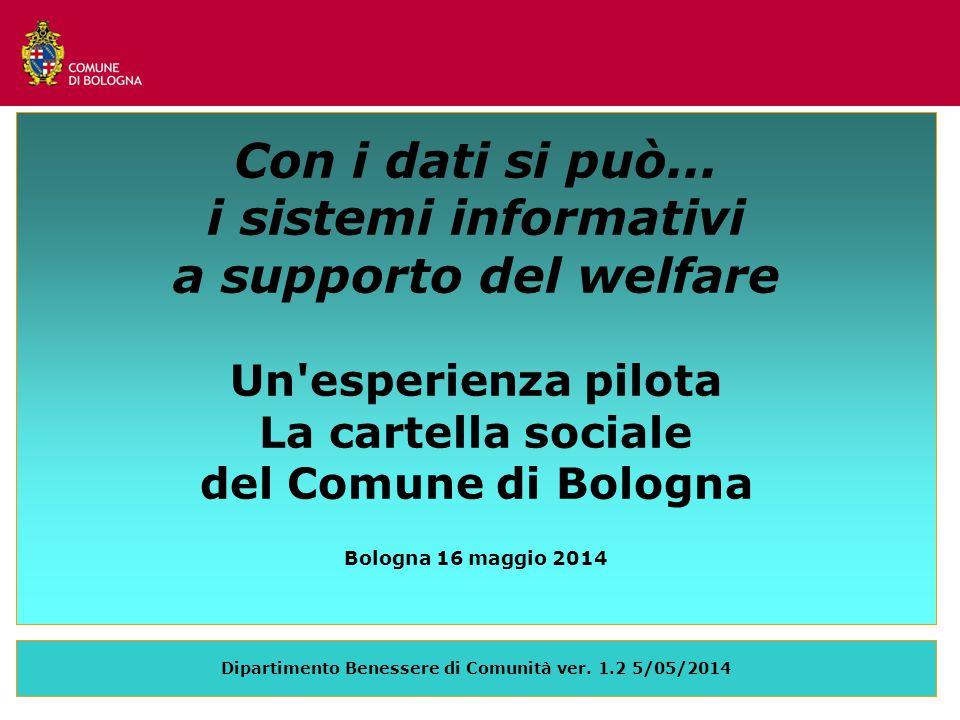 Dipartimento Benessere di Comunità ver. 1.2 5/05/2014