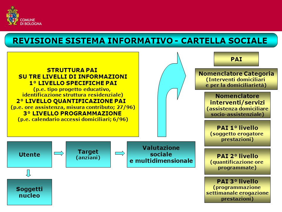REVISIONE SISTEMA INFORMATIVO - CARTELLA SOCIALE