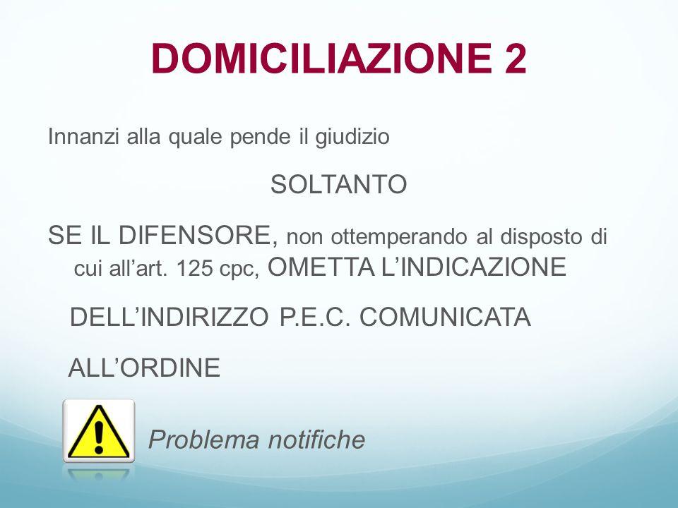 DOMICILIAZIONE 2 SOLTANTO