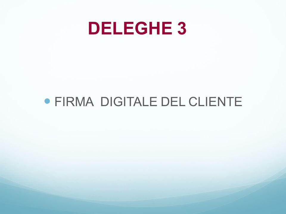 FIRMA DIGITALE DEL CLIENTE
